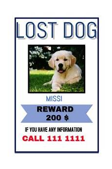 Lost Dog Poster Maker 450 Customizable Design Templates For Lost Dog Postermywall