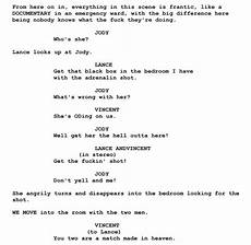 Sample Screenplay Screenplay Examples Pulp Fiction Script Free Script