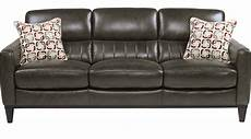 799 99 prospect park gray leather sofa classic
