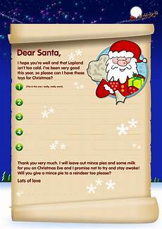 A Letter From Santa Template Free Santa Letters Send A Letter To Santa With Our Template
