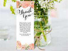 thank you card editable template thank you card diy editable ms word template peony