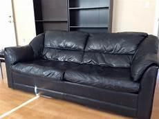 leather hide a bed oak bay