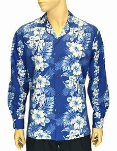 sleeve hawaiian shirt sleeves cotton hawaii shirt royal blue haku laape