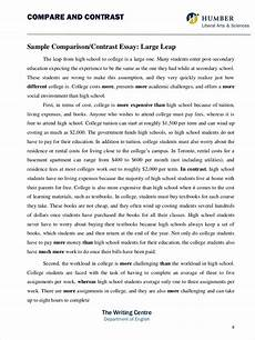 Examples Of Contrast Essays 9 Comparative Essay Samples Free Pdf Format Download