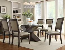 elegant glass dining rooms sets round kitchen table