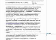 Business Policy Example How To Write An Iso 22301 Compliant Business Continuity
