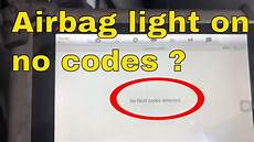 No Airbag Light Airbag Srs Light On No Codes Lexus Toyota Scion Youtube