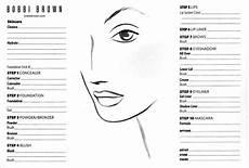Brown Face Chart Blank Blank Brown Makeup Face Template Makeup Face