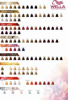 Wella Colour Id Chart Wella Professionals Color Touch Color Chart 2017 Hair
