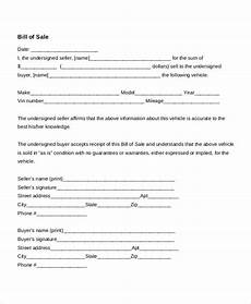 Free Auto Bill Of Sale Template Auto Bill Of Sale 11 Free Word Pdf Documents Download