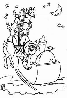 ausmalbild weihnachten weihnachten schlitten
