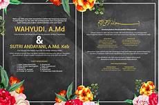 undangan blackboard flower vintage corel draw indonesia