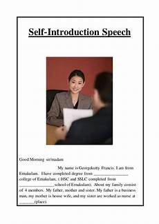Introduction For Interview Simple Self Introduction In Interview