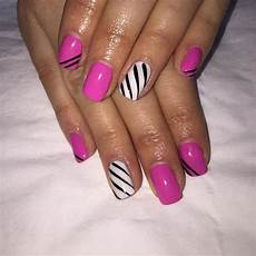 Black White And Pink Nail Designs 23 Pink Amp White Nail Art Designs Ideas Design Trends