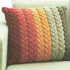chunky wool cable cushion knitting pattern 16 quot knit in
