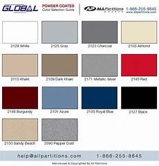 Partition Chart Powder Coated Metal Colors Chart All Partitions
