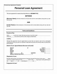 Personal Loans Template 14 Loan Agreement Templates Excel Pdf Formats
