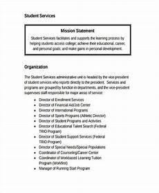 Career Portfolio Mission Statement Example Student Services Mission Statement