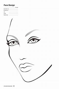 Brown Face Chart Blank Free Printable Face Chart For Makeup Artists Facechart