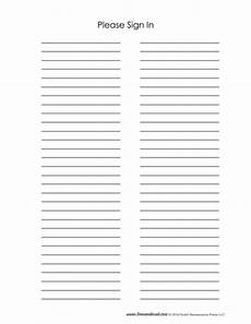 Free Sign In Template Sign In Sheet Template 2 Tim S Printables