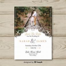 Wedding Invitation Card With Photo Wedding Invitation Card With Photo Free Vector