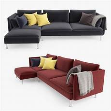 Sofa With Chaise Lounge 3d Image by 3d Model Ikea Soderhamn Sofa Chaise