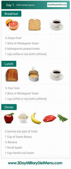 Indian Army Diet Chart Pdf Military Diet Day 1 Meal Plan In 2019 Military Diet Meal