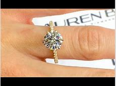 2 carat Round Moissanite Engagement Ring in Rose Gold