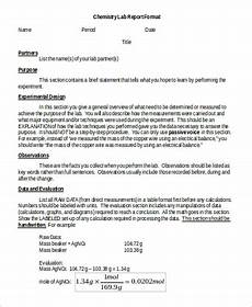 Chemistry Lab Report Template Word Sample Chemistry Lab Report 8 Examples In Word Pdf