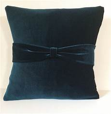 teal velvet sofa throw pillow cover pillow slipcover