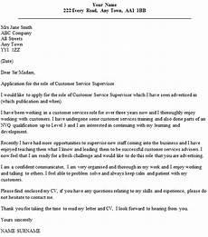 Cover Letter For Site Supervisor Customer Service Supervisor Cover Letter Example Icover