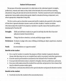Sample Self Assessment For Work Free 11 Sample Self Assessment Examples In Pdf Excel