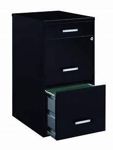 space solutions 3 drawer file cabinet 18 inch black