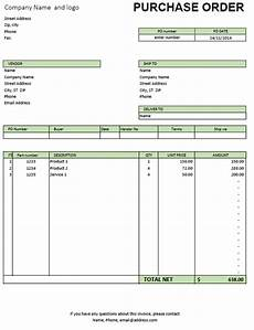 Po Sales Excel Purchase Order Template Excel Invoice Template With