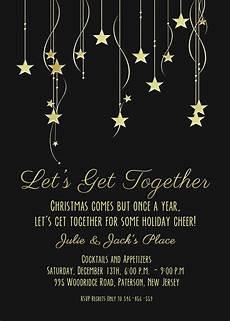 Black And White Christmas Invitations Stars Christmas Party Invitation Black Gray Amp Gold