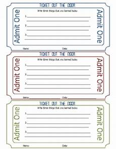 Ticket Out The Door Printable Ticket Out Of The Door Printable By Kasey Nichols Tpt