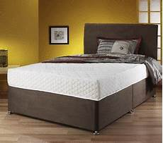 leather suede divan bed set sprung memory mattress