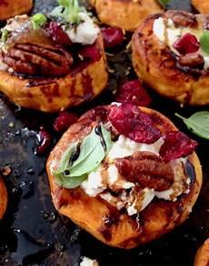 roasted sweet potato rounds appetizer recipe veggie society