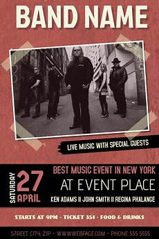 Free Concert Flyer Templates Copy Of Red Indie Band Concert Event Flyer Template With