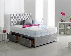 pristine beds princess crushed velvet divan bed set mattress