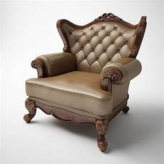 Individual Sofa 3d Image by Single Person Classic Leather Sofa 3d Model In Sofa 3dexport
