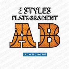 Basketball Font Basketball Font Svg Orange Letters With Black Ribs