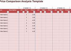 Price Comparison Spreadsheet Template Price Comparison Sheet