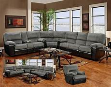 grey fabric black vinyl modern sectional sofa w options