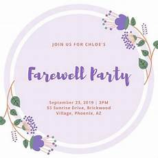 Invitation Card For Farewell Party To Seniors Farewell Party Invitation Meaning Party Invite Template