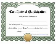 Free Printable Participation Certificates Printable Certificate Of Participation Award Certificates
