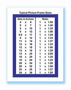 All Photo Size Chart Picture Frame Sizes Good To Know Photo Projects Pinterest