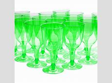 20 Tropical New Year Green 8oz Plastic Wedding Wine Cups