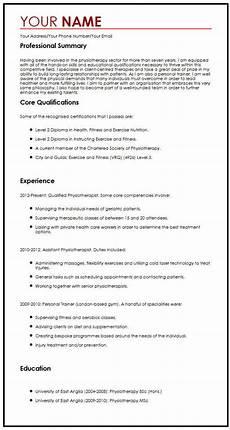 Resume Cv Examples Modern Cv Sample Myperfectcv