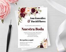 invitaciones de boda invitaciones de boda para editar imprimir editable